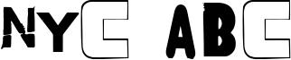 NYC ABC Font