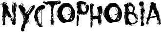 Nyctophobia Font