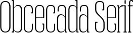 Obcecada Serif Font