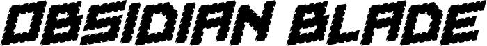 Obsidian Blade Font