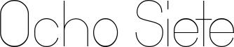 Ocho Siete Font