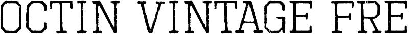 Octin Vintage Free Font