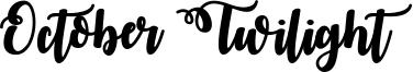 October Twilight Font