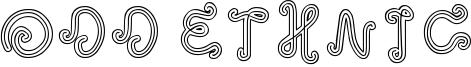 Odd Ethnic Font