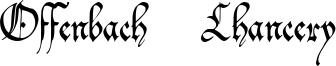 Offenbach Chancery Font