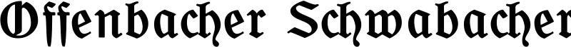 Offenbacher Schwabacher CAT Font