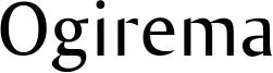Ogirema Font