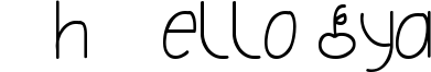 Oh Hello Dya Font