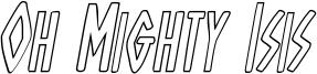 ohmightyisisoutital.ttf