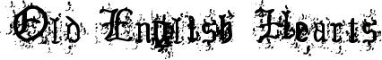 Old English Hearts Font