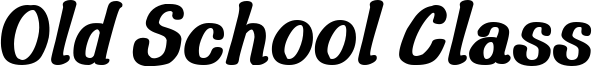 Old School Class Font