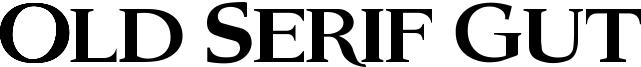 Old Serif Gut Font