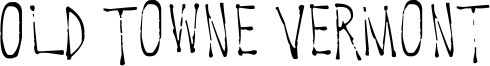Old Towne Vermont Font