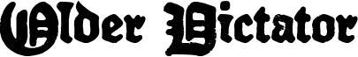 Older Dictator Font