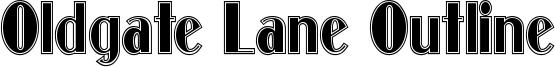 Oldgate Lane Outline Font