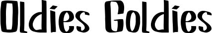 Oldies Goldies Font