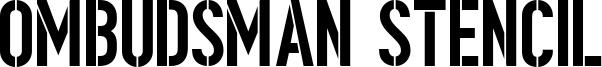 Ombudsman Stencil Font