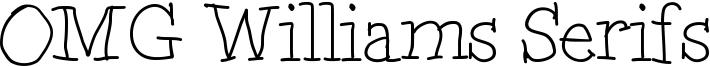 OMG Williams Serifs Font