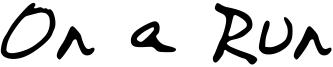On a Run Font