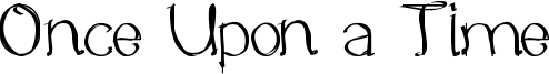 Once Upon a Time Font