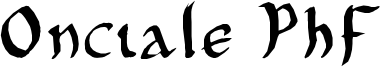 Onciale PhF Font