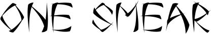 One Smear Font