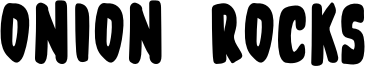 Onion Rocks Font
