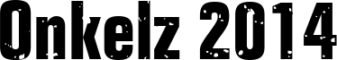 Onkelz 2014 Font