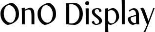 OnO Display Font