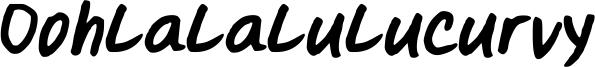 Oohlalalulucurvy Font