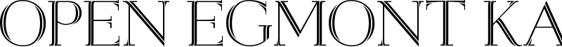 Open Egmont Kapitalen Font