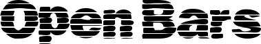 Open Bars Font