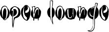 Open Lounge Font