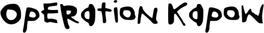 Operation Kapow Font