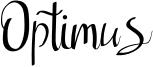 Optimus Font