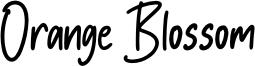 Orange Blossom Font