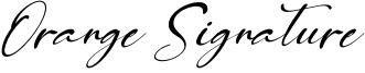 Orange Signature Font