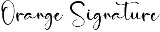 Orange Signature.otf