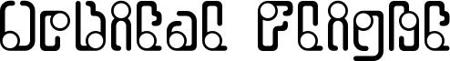 Orbital Flight Font