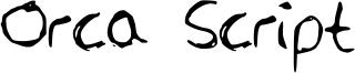 Orca Script Font