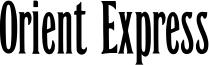 Orient Express Font