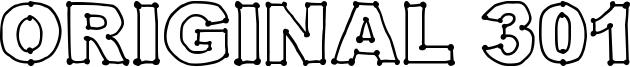 Original 301 Font