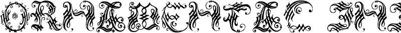 Ornamental Initial Font