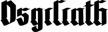 Osgiliath Font