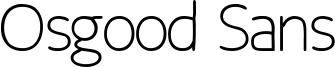 Osgood Sans Font