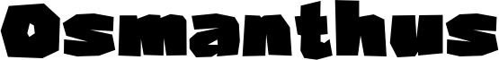 Osmanthus Font