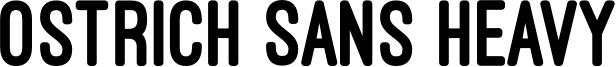 Ostrich Sans Heavy Font