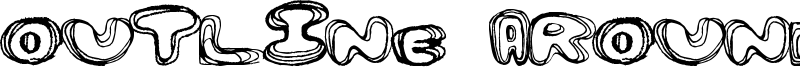 Outline Around Font