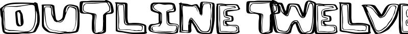 Outline Twelve Font