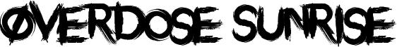 Overdose Sunrise Font